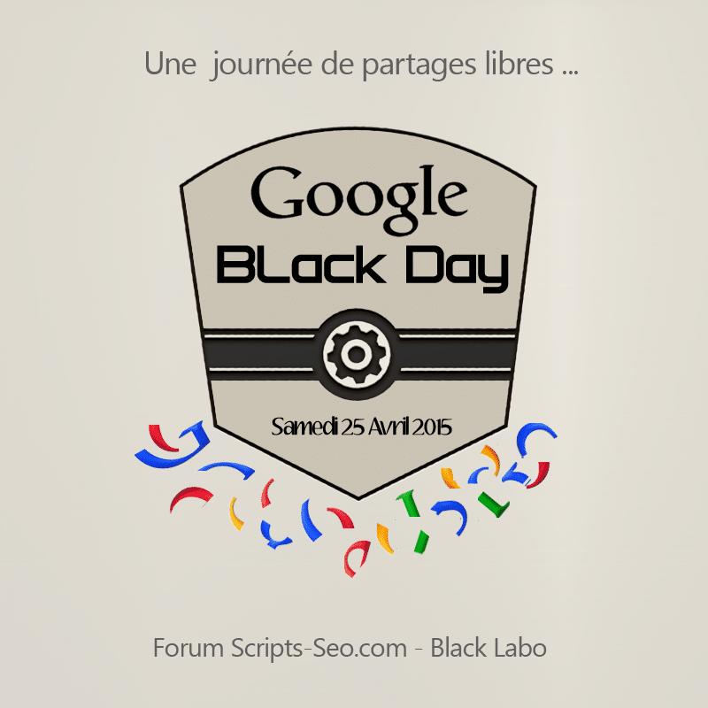 Google Black Day 25 Avril 2015