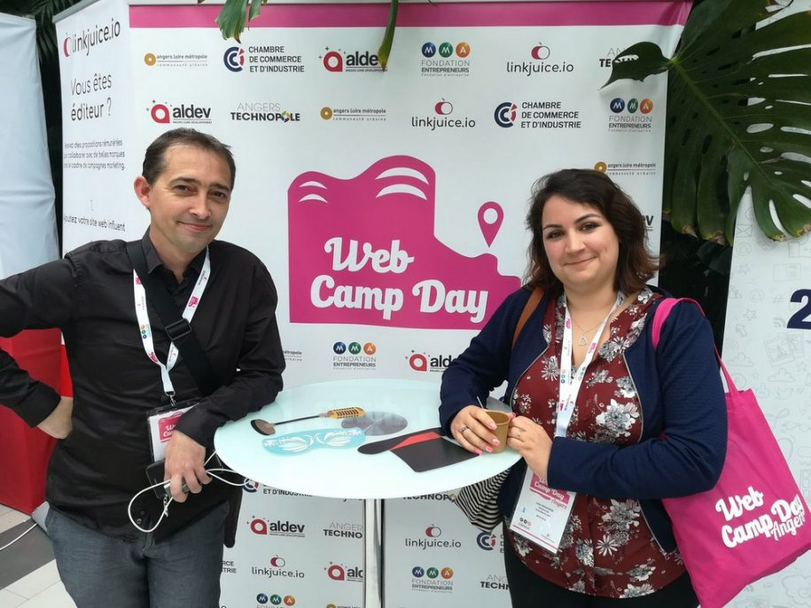Regis Stephant et Julie Chodorge consultants seo au webcampday